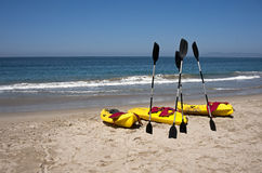 Ocean Kayaks Beach Surf Stock Image