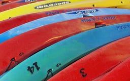 Ocean kayaks Royalty Free Stock Photography