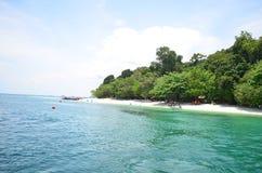 Ocean kipieli plaży wody morskiej wody zieleni błękit Zdjęcie Stock