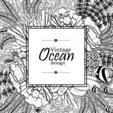Ocean kreskowej sztuki projekt Zdjęcie Stock