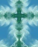 ocean krzyżowa spray zdjęcie stock