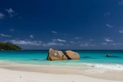 Ocean landscape beach blue watercolour Stock Images