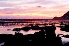 Ocean landscape at sunset Stock Images