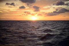 Ocean landscape with sunset for backgrounds. Ocean landscape with sunset Ocean landscape with sunset for backgrounds Royalty Free Stock Photo