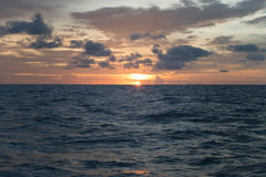 Ocean landscape with sunset for backgrounds. Ocean landscape with sunset for background Stock Photos