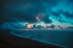 ocean landscape sunset Stock Images
