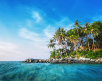 Ocean landscape with tropical island. Thailand Stock Photos