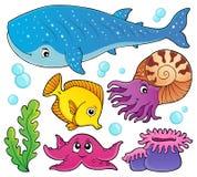 Ocean life theme set 1 Stock Images