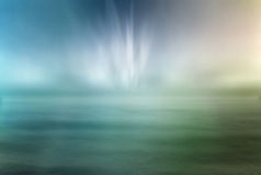 The ocean and lights. On the sky,fantasy picture Stock Photo