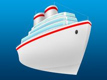 Ocean liner. The ocean liner for transportation of passengers and cruises Stock Photos
