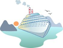 Ocean liner Royalty Free Stock Photo
