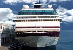 Ocean Liner. Docked in port Stock Photo