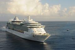 Ocean liner approaching Stock Image