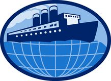 Ocean liner boat ship globe Stock Photos