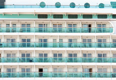 Ocean liner cabins background Stock Photo