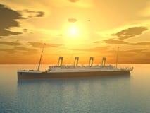 Ocean Liner Royalty Free Stock Images