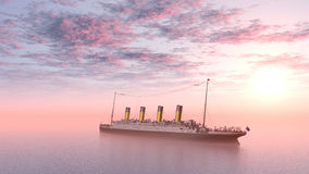 Ocean Liner Royalty Free Stock Photography
