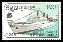 Ocean liner Emerald Seas royalty free stock photos