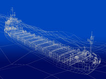 Ocean liner in ocean Stock Image