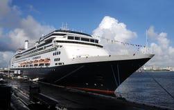 Ocean liner in port. Modern passenger ocean liner docked in port Royalty Free Stock Photography