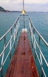 Ocean liner or sea yacht nose Royalty Free Stock Image
