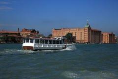 Ocean Liner, Ships, Canale Grande, Basilica di S. Marko, Old Buildings, Venice, Venezia, Italy Royalty Free Stock Image