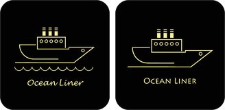 Ocean linern - ship Royalty Free Stock Photos