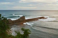 Ocean linia brzegowa w Nikaragua zdjęcie royalty free
