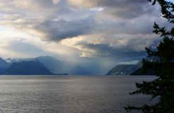 Ocean living 11. Dramatic sky in Horseshoe Bay royalty free stock photos