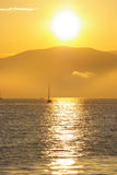 Ocean living 4. Misty sunset in the English Bay royalty free stock images