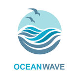 Ocean logo design Royalty Free Stock Photos