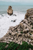 Ocean. A lot of small stones on the ocean stock photo