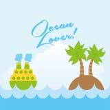 Ocean love design Stock Photos