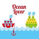 Ocean love design Stock Photography