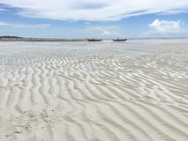 Ocean at low tide. African coast of the Indian ocean at low tide. Zanzibar royalty free stock photography