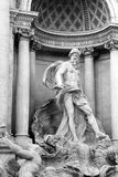 Ocean ,the main statue of the Trevi fountain. The personification of a immense river that flows around the earth and from which all strams of water derive Stock Photography