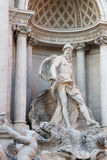 Ocean ,the main statue of the Trevi fountain. The personification of a immense river that flows around the earth and from which all strams of water derive Royalty Free Stock Photo