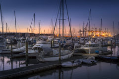 Ocean Marina Sunset stock photos