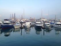 Ocean marina yacht Stock Images