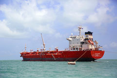 Ocean Mariner tanker near Belize City royalty free stock photography