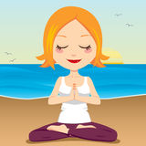 Ocean Meditation Royalty Free Stock Photography