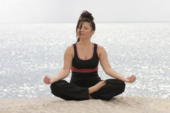 Ocean Meditation. Meditation by the ocean Royalty Free Stock Image