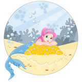 The ocean and the mermaid Royalty Free Stock Photography