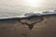 Ocean miłość Obrazy Royalty Free