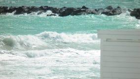 Ocean in Miami Beach. Florida royalty free stock image