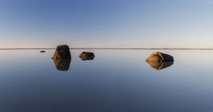 Ocean - minimalistic photograph of the sea in the morning Stock Photos