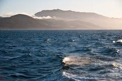 Ocean Misty Mountains of Santa Cruz Island Royalty Free Stock Photo