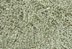 Ocean of money. Millions of Dollars in 20 dollar bills - isolated on white Stock Photos