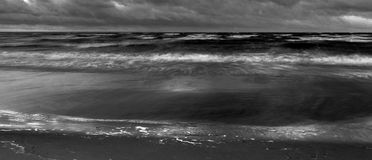 Ocean monochrome photo Royalty Free Stock Photography