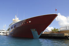 Ocean motor yacht Stock Images